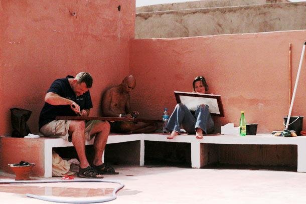 Mais janelas para raspar casa Ouarzazate Marrocos
